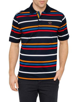 Multi Stripe Pique Polo