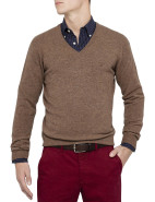 Light Weight Lambswool V-Neck Knit $199.00