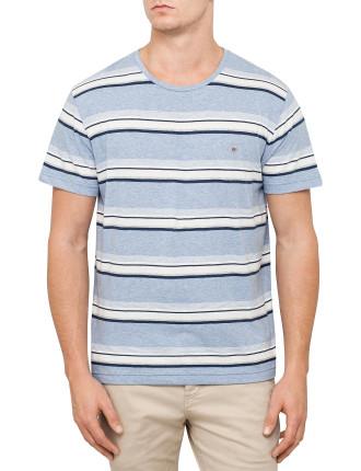 Blue Heather Stripe T-Shirt