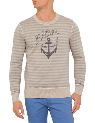 Salty Bleached Pacific Crew Neck Sweat