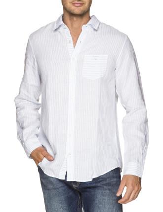 C. Carmel Linen Stripe Ls Bd