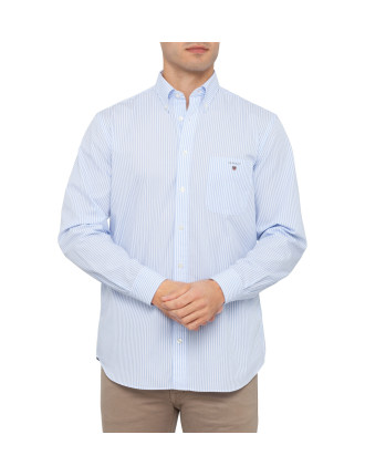 The Banker Stripe Button Down Regular Fit Long Sleeve Shirt