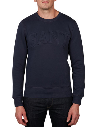 GANT EMBOSSED C-NECK SWEAT