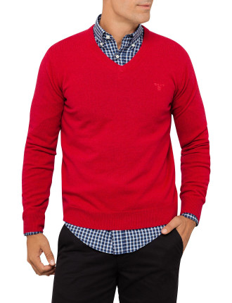 Lt. Wt. Lambswool V-Neck