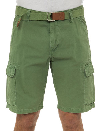 Loose Belted Cargo Shorts