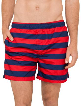 Rugby Stripe Swim Shorts C.F.