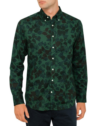 Camo Leaf Print shirt