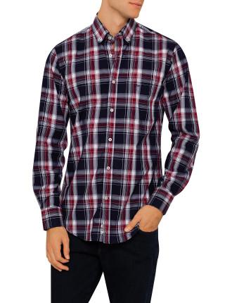 Long Sleeve Large Check Bd Shirt