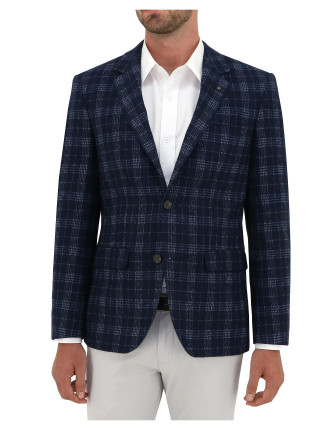 2B SB SV 70WOOL/30POL MEL CHECK JACKET