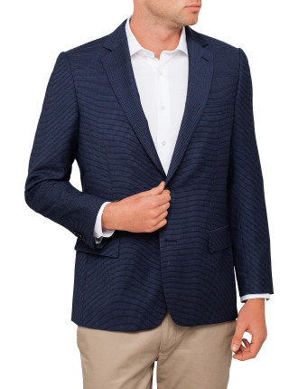 Wool Textured Neat Blazer