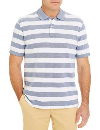 Block Stripe Pique Polo