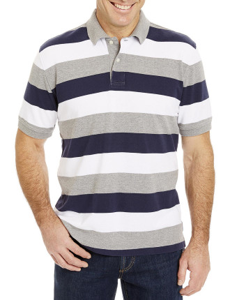 Pique Rugby Stripe Polo