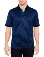 Mercerised Fine Stripe Polo $89.95