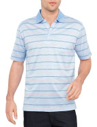 Mercerised Stripe Polo $89.95