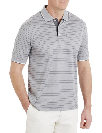 Mercerised Multi Stripe Polo