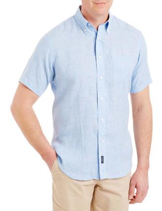 Casual Linen Houndstooth Shirt