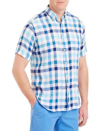 Linen Box Check Shirt