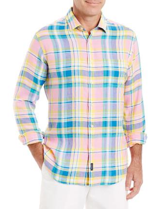 Pure Linen Multi Check Shirt