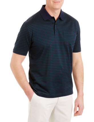Mercerised Twin Stripe Polo