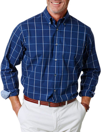 Easy Care Oxford Check Shirt