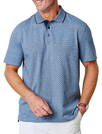 Feather Stripe Jersey Polo