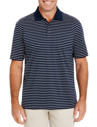 Mercerised Classic Stripe Polo