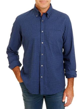 Tailored Brushed Gingham Shirt
