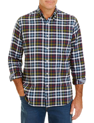 Brushed Twill Multi Check Shirt
