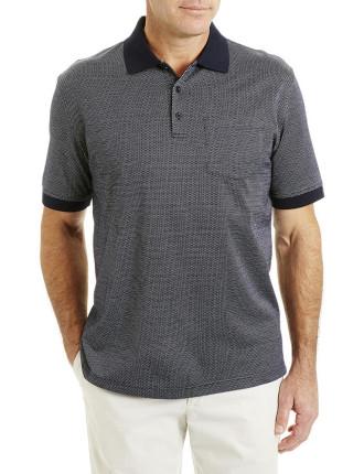 Mercerised Pattern Polo