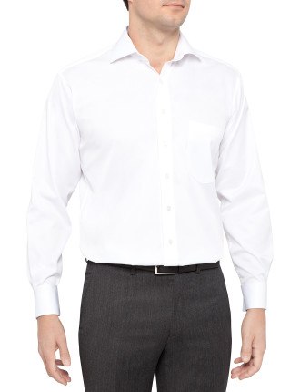 Slim Fit Sateen Dress Shirt