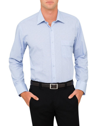 Square Dobby Check Classic Fit Shirt
