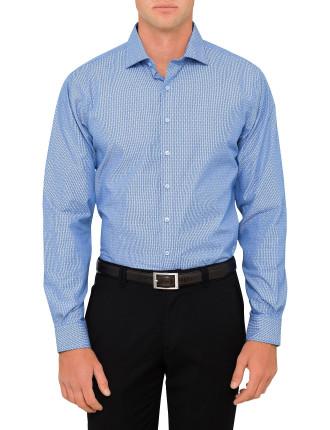 Stripe Dot Print Euro Fit Shirt
