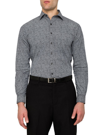 Small Flowers Print Euro Fit Shirt
