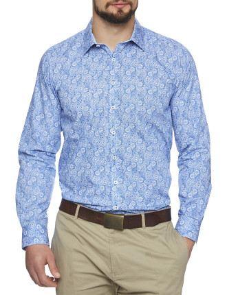 Pacific Paisley Body Print Shirt