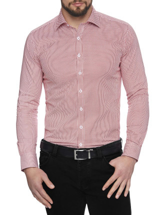 Elipse Stretch Print Body Fit Shirt