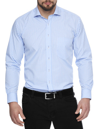 Gallaudet Check Stretch Collar Regular Fit Shirt