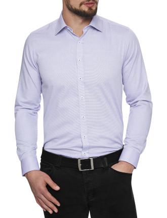 Foggy Oxford Stretch Collar Slim Fit Shirt