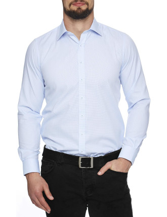 Oaks Semi Solid Stretch Collar Slim Fit Shirt