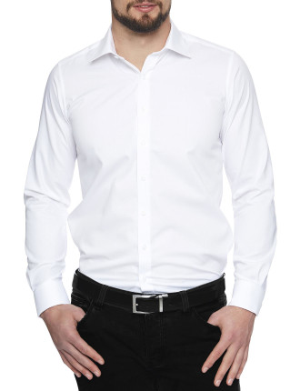 White House Twill Stretch Collar Slim Fit Shirt