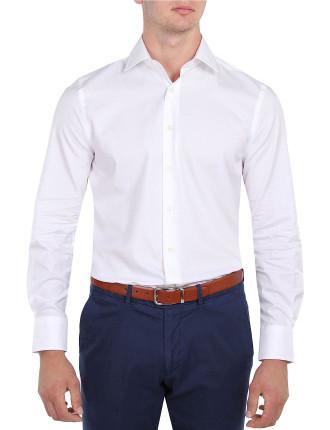 Self Stripe Slim Fit Shirt