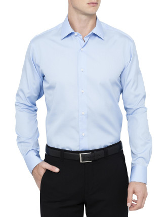 White Self Stripe Shirt