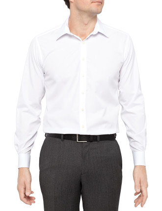 Lanolin Slim Fit Superfine Poplin Shirt