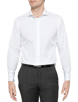 Fine Satin Stripe Slim Fit Shirt