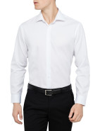 Solid Shirt with Cutaway Collar $89.95