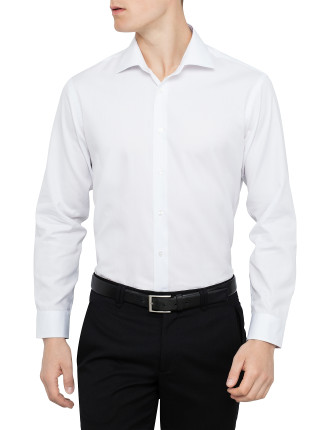 Solid Shirt with Cutaway Collar slim fit