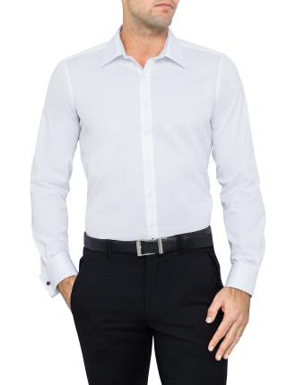 Fine Twill Slim Fit Shirt Double Cuff