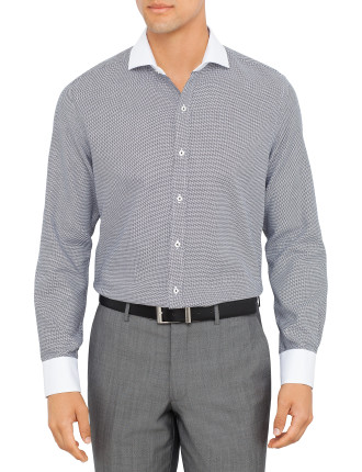 Textured Plain Formal Shirt