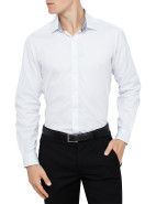 San Jose Self Stripe Slim Fit Shirt $119.95