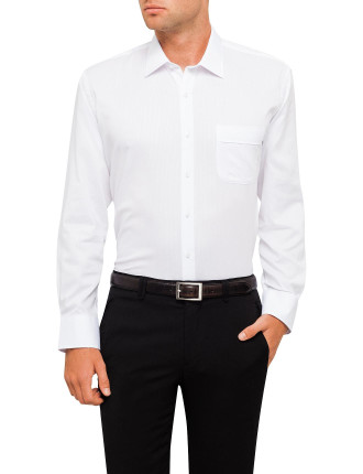 CLASSIC FIT SELF STRIPE SHIRT