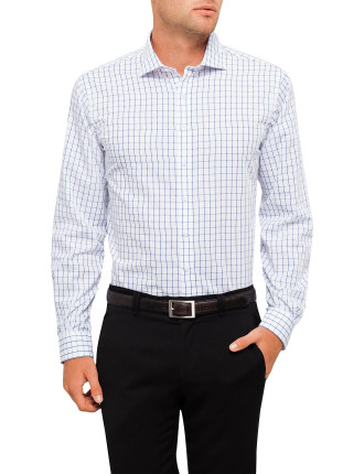 European Fit Grid Check Shirt